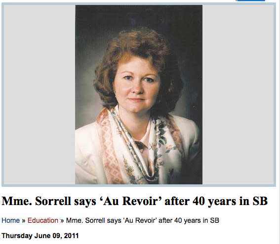 Sorrell Retirement South Burlington High School SBHS Vermont writer journalist